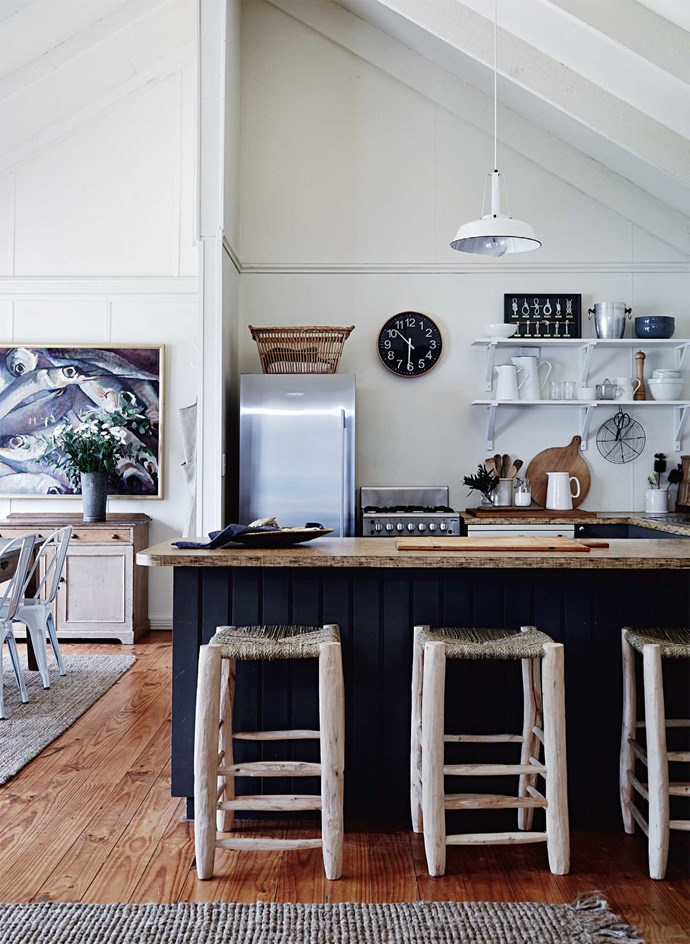 "Polished timber floors and coir mats are part of the simple [holiday-home atmosphere](https://www.homestolove.com.au/byron-bay-best-boutique-hotels-19524|target=""_blank""). You can all but smell the salmon baking in the oven."