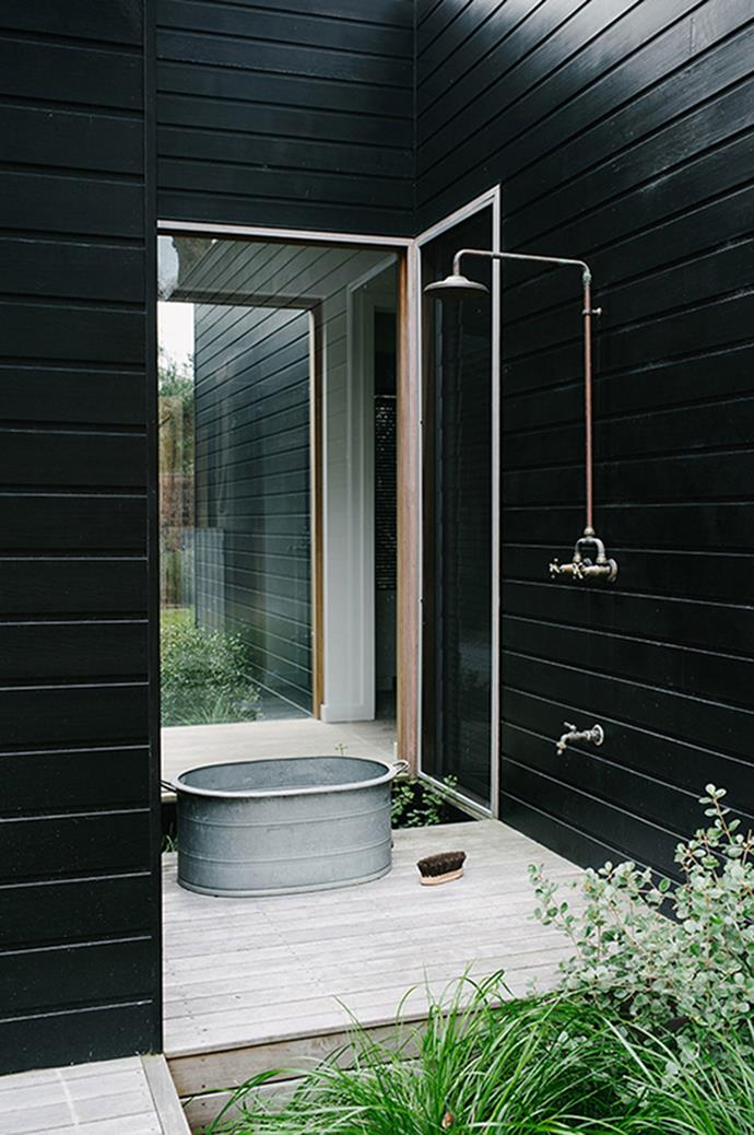 2. Tap into your home's hot-water supply for an outdoor shower. Photo courtesy of Brooke Holm.