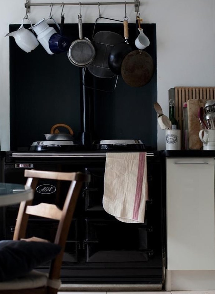 7. Get rid of  pots and pans that are light, badly designed, worn or damaged. Now go shopping for new stuff! Photo of Louisa Grey's London apartment by Carl Bartram.
