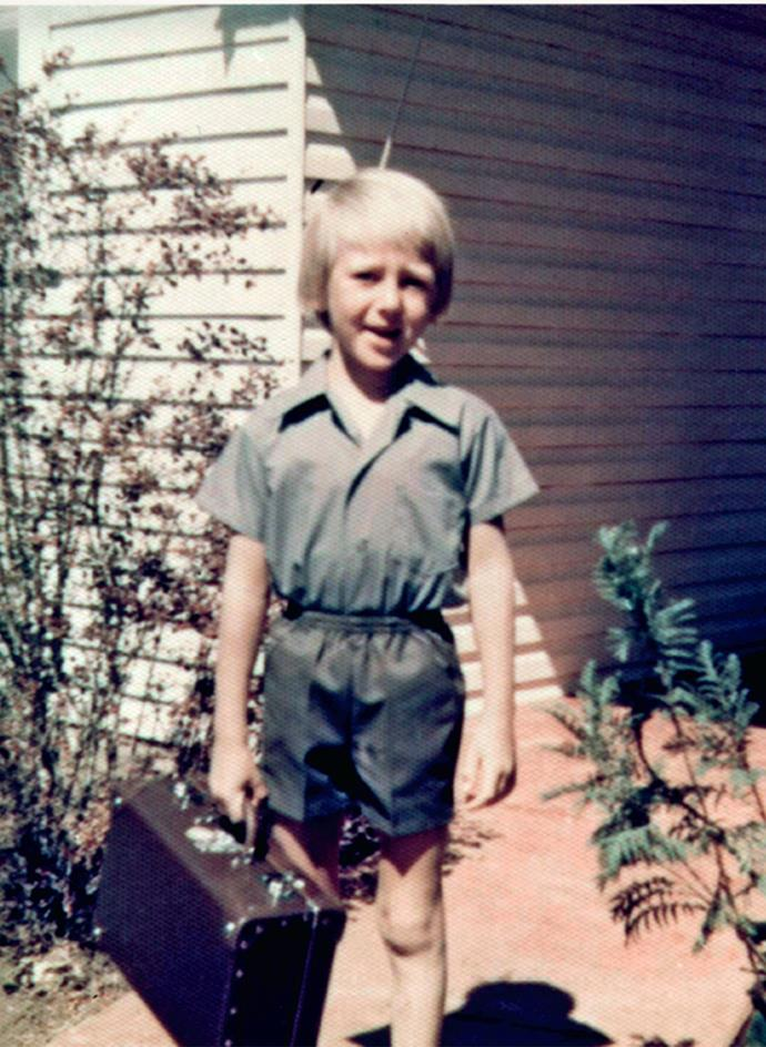 """Glenn McGrath on his first day of school, aged 5. Growing up on a farm, he says, gave him a great sense of independence and an excellent work ethic. """"You learn to do things by yourself at an early age. You'd try and work things out for yourself, rather than ask for help."""""""