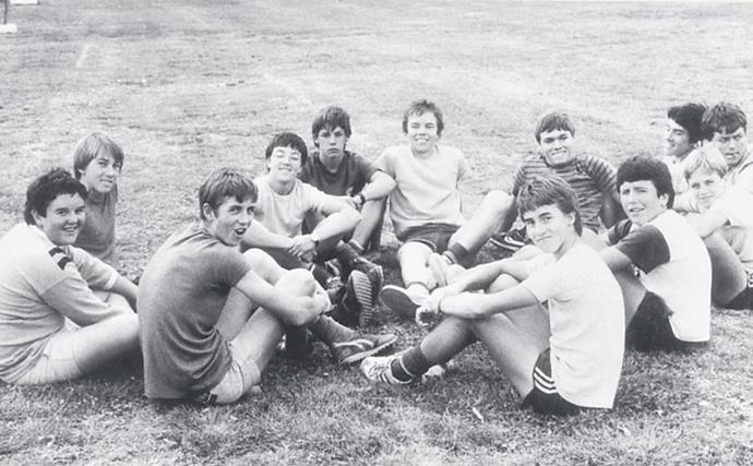 """Glenn, second from the left, with his mates during his high school days. """"I played my first representative game when I was 17,"""" he says, noting that he was something of a late starter. """"I played cricket because I loved it, not because I could make money out of it."""" Within four years of his debut at Sydney club Sutherland, McGrath was playing for Australia."""