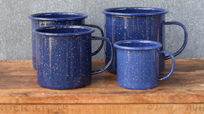#3: It's cheap! Not only is it seriously on trend it also won't cost your firstborn child. These [enamel mugs](http://www.exchangestores.com.au/collections/falcon-enamelware/products/falcon-enamel-mug-blue-speckle?variant=5730955971 ), for example, start at just $3.95. At that price you can get one for everyone with a few leftover just for luck.