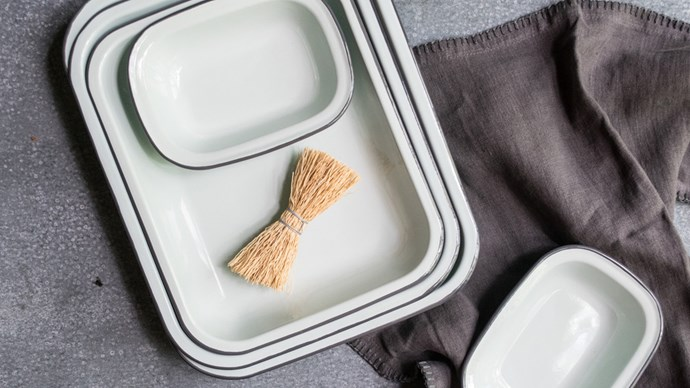 #4: It's seriously durable – which is exactly why it's used for camping fare. The best part is, even if enamel pieces like [these](http://www.exchangestores.com.au/) get a dent or two it simply adds to the charm. Enamel is also great for kid's clumsy hands.