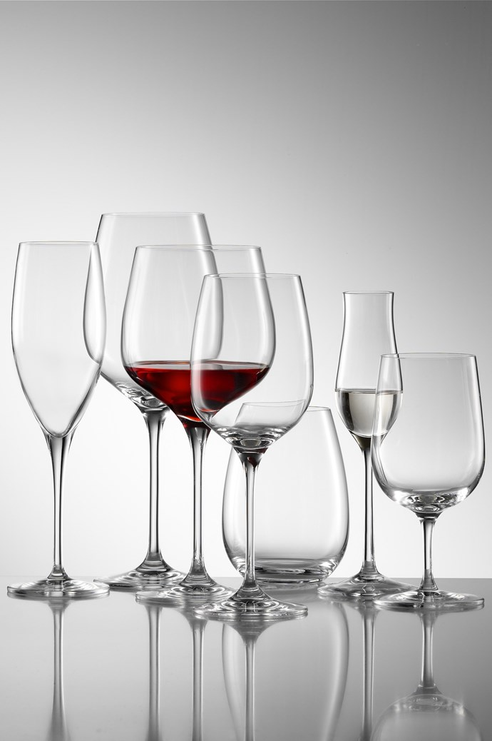 Beware of thick rims that have an unpleasant jam-jar feel. Or thin rims that feel as if they could crumble in your mouth. Riedel red wine 4-piece set, $79, [petersofkensington.com](http://www.petersofkensington.com.au/Public/Default.aspx)