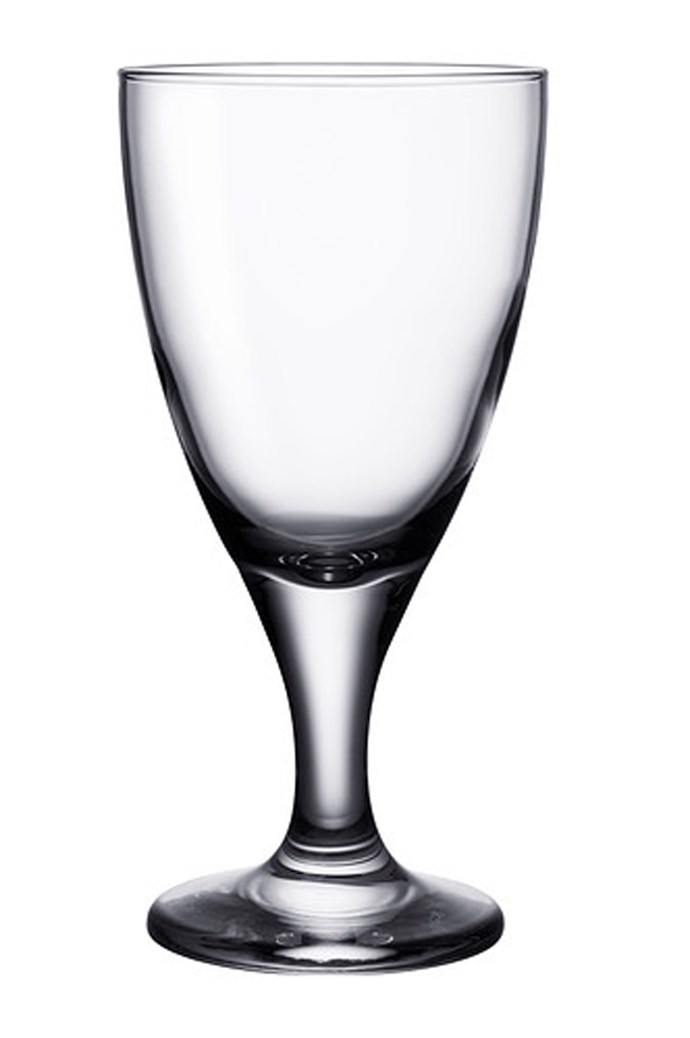 Glasses don't have to be expensive. A practical, elegant glass can cost a few dollars. Ikea Rattvik white and red wine glasses, $2.29. [ikea.com](http://www.ikea.com/)