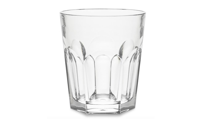Go for squat, fat tumblers that can double as vases. Williams-Sonoma Dura-Clear faceted tumbler like they have in French bistros, $14 each, 1800 231 380, [williams-sonoma.com.au](http://www.williams-sonoma.com.au/)