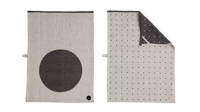 OYOY Circle & Dot tea towel, set of 2 for $30, from Top 3