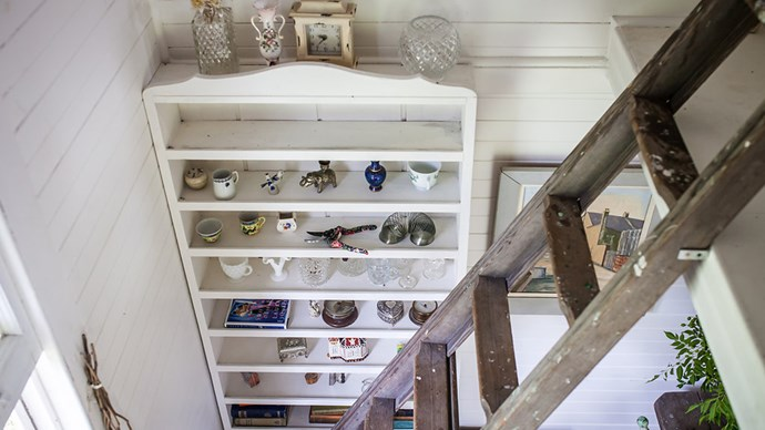 """My grandfather was an antiques dealer. This bookshelf holds a lot of his objects - beautiful bits and bobs he picked up over the years."" Image courtesy of [Hunter Hunter](http://www.hunterhunter.com.au/