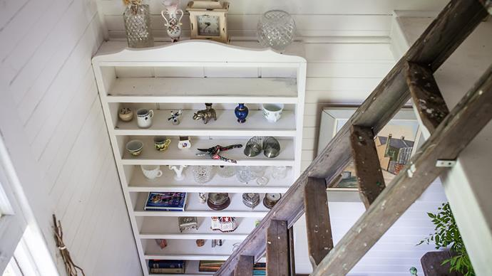 """""""My grandfather was an antiques dealer. This bookshelf holds a lot of his objects - beautiful bits and bobs he picked up over the years."""""""