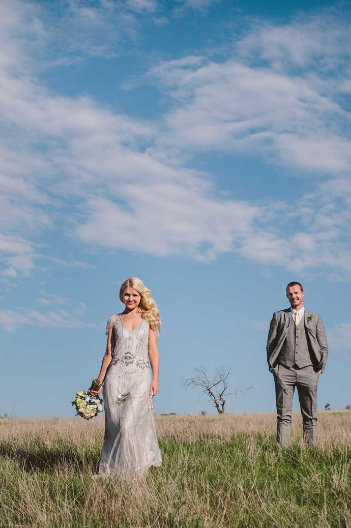 Elizabeth's dress, by Jenny Packham, was the perfect blend of glamour and country luxe.  | Photo: Narelle Joy