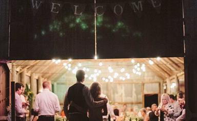 Vintage-inspired barn wedding
