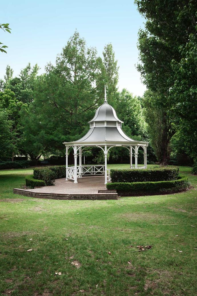 **Apex Park** The historic rotunda in Apex Park remains a beloved spot on the Berry map.