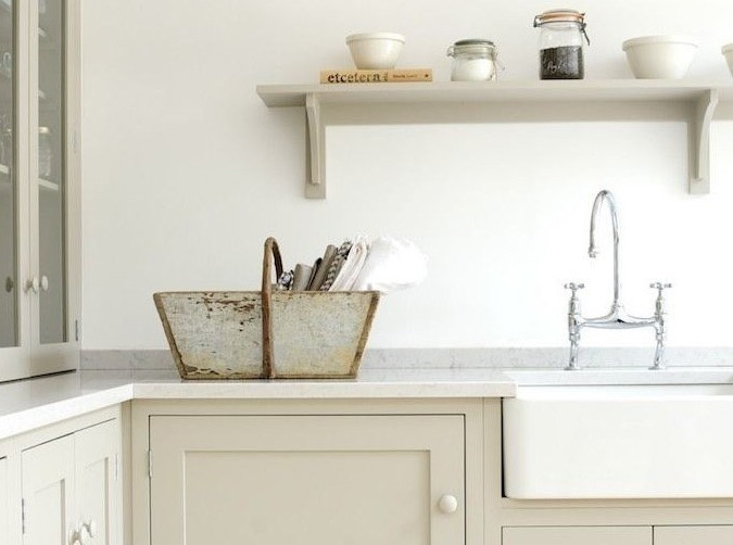 Quartz looks great and is a sturdy option that stands up well to heat and hard knocks, being tougher than the real stone on which it is based. This DeVol kitchen features benches made from a quartz slab in 'Lagoon' from Silestone.