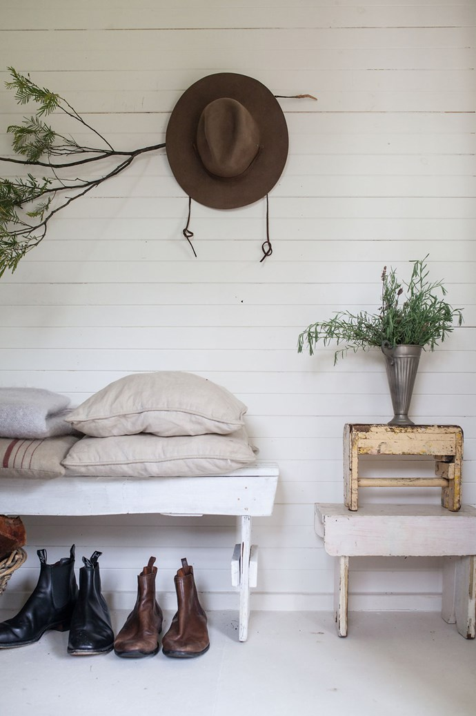 "The use of [antiques and upcycling](https://www.homestolove.com.au/12-homes-that-embrace-upcycling-6629|target=""_blank"") as a theme adds an element of rawness and a touch of nature. Image courtesy of [Hunter Hunter](http://www.hunterhunter.com.au/