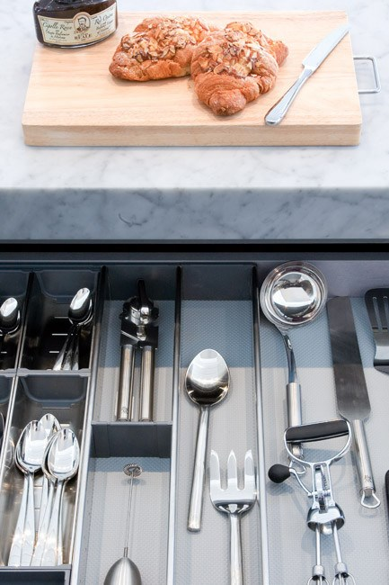 Create order with a well-organised [cutlery](http://www.homelife.com.au/homes/homewares/buyers+guide+to+cutlery,14161) drawer.  **Like this? Try our other renovating ideas:**  \* [Kitchen renovation](http://www.homelife.com.au/homes/galleries/kitchen+renovation,10249)   \* [Small kitchen makeover](http://www.homelife.com.au/homes/kitchen/small+kitchen+makeover,4594)   \* [Kitchen renovation tips](http://www.homelife.com.au/homes/kitchen/kitchen+renovation+tips,4616)[](http://www.homelife.com.au/homes/galleries/inner+city+renovation,10191)  Plus, don't miss more great ideas on [Facebook](http://www.facebook.com/homelife.com.au) and you can also find us on [Pinterest](http://pinterest.com/homelifecomau/). | Photo: Emma Bass