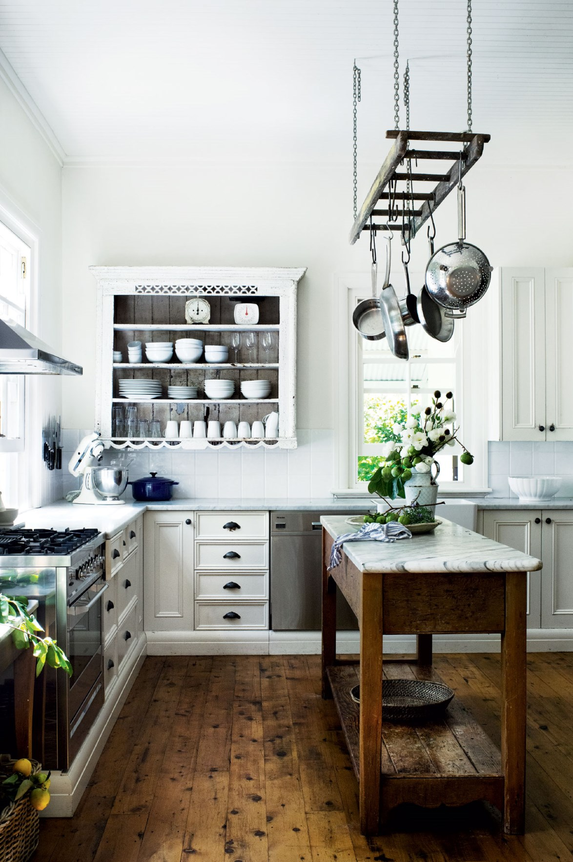 """The kitchen at [Willow Farm Homestead](https://www.homestolove.com.au/willow-farm-homestead-13727