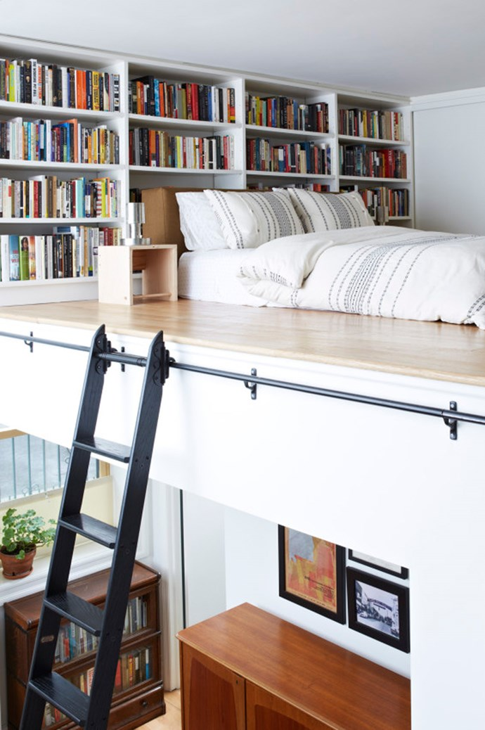 Featuring a simple, low-lying bed, plenty of books close to hand and easy-to-reach storage, this tiny bedroom in a New York loft featured on [Cup of Jo](http://cupofjo.com/) proves small and perfectly formed will always win in the style stakes. Photography by [Alpha Smoot](http://www.alphasmoot.com/) and styling Kate Jordon.
