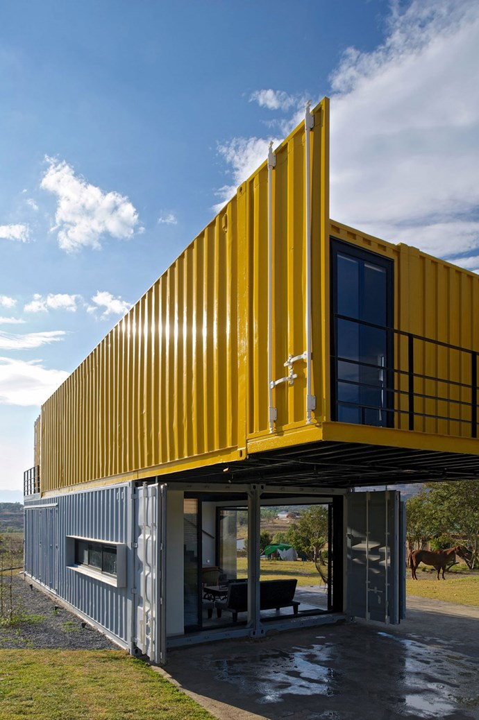 Unabashedly industrial, this shipping container Huiini House by [S+ Diseño](http://www.esemas.com.mx/) adds a new dimension to the Mexican landscape. Shipping containers are built to stack and this construction highlights the function and strength of the materials and the ingenuity of the shape in contemporary home design.