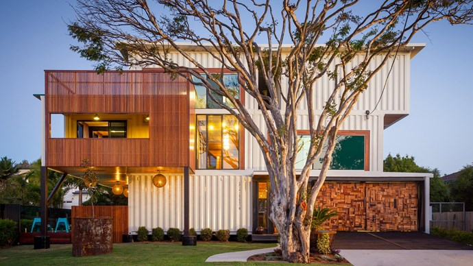 There's no shying away from the shipping container form in this striking design by [Ziegler Build](http://www.zieglerbuild.com.au/) in Brisbane. It's the largest shipping container home in Australia and spans three levels and used 31 containers in its construction. Words and image editing by Clare Patience.
