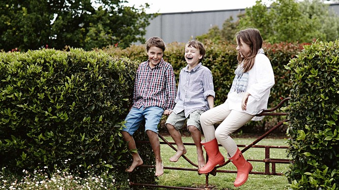 Within the seclusion of their farmhouse and its lush gardens, they raise their children Ted, Oscar and Lalla.