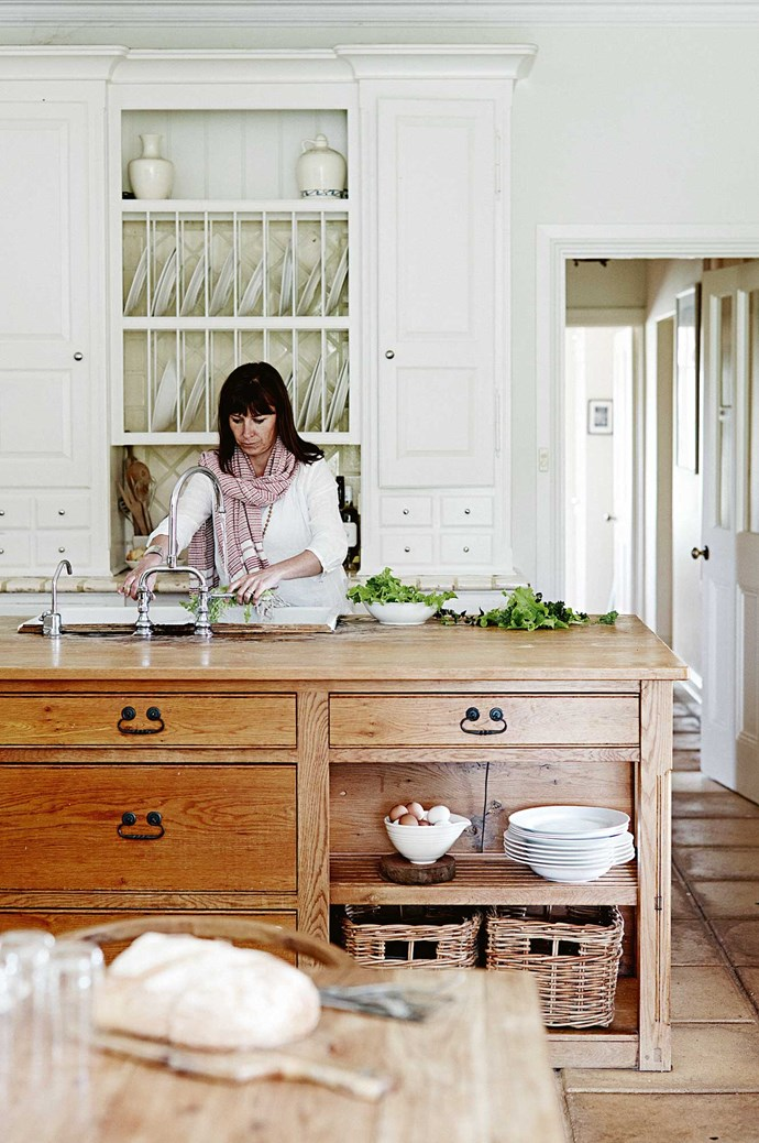 Susie loves the kitchen's relaxed country look and practicality.