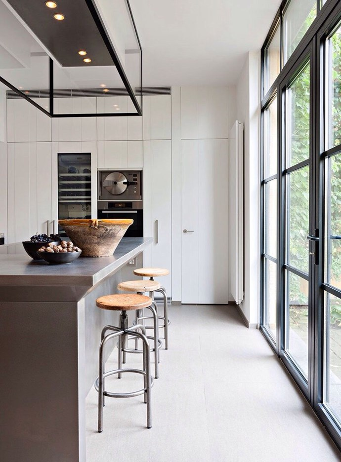 Steel framed doors and windows are low maintenance, low profile and let the light in. Image courtesy of Obumex Design.