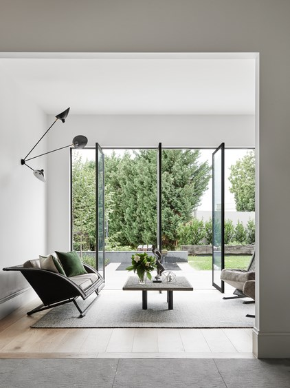 Prices for bespoke metal doors are as variable as each setting so it is worth shopping around.  Toorak2 House, designed by Robson Rak.
