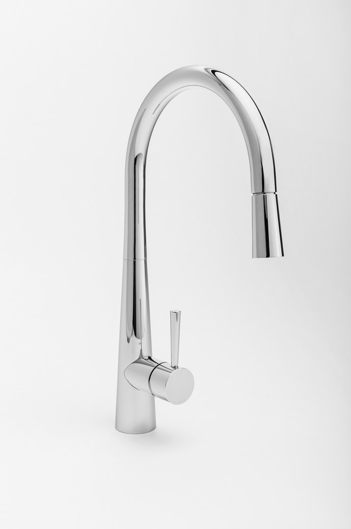 Barrow kitchen mixer in polished chrome, $242, Raymor.