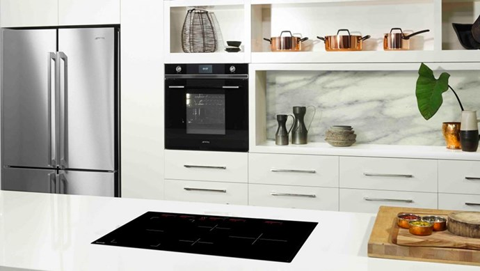 """4. """"Induction cooktops are great for small spaces,"""" says Darren. """"When not in use they can double as extra bench space."""" You can also streamline your cooktop down to two burners – freeing up important bench space for food prep."""