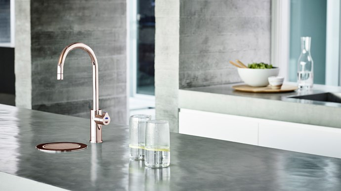 A new mixer can quickly update the look of a kitchen. Hydro Tap Arc in Rose Gold, $2495, [Zipwater](https://www.zipwater.com/)