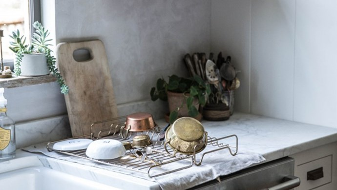 """It's strongly associated with mess: """"Everything but the kitchen sink!"""" But it doesn't have to be... Here are 16 products to help you get a stylish kitchen work space. Image via [Remodelista](http://www.remodelista.com/posts/beth-kirby-of-local-milk-kitchen-remodel-by-the-jersey-ice-cream-co/) 