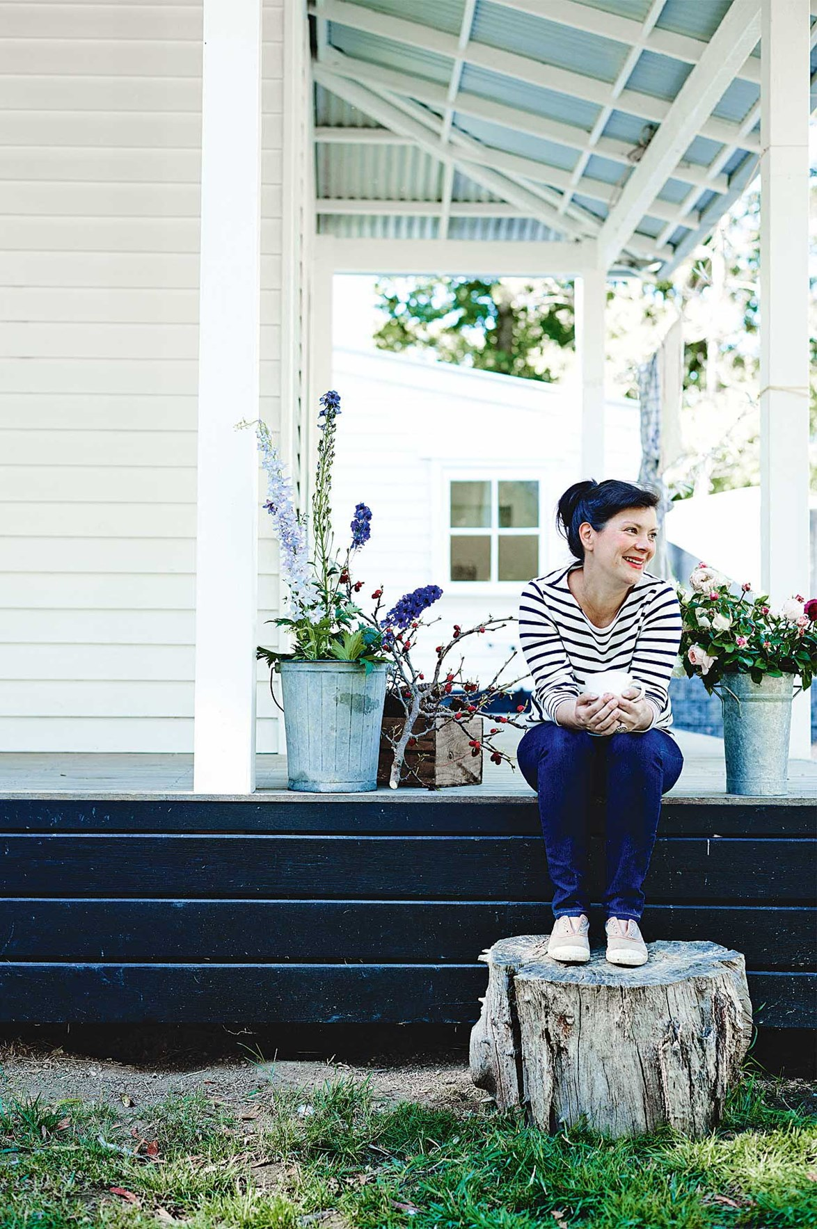 "Natasha and her family moved out of their urban Melbourne [home to Spargo Creek](https://www.homestolove.com.au/restored-farmhouse-becomes-a-meeting-place-for-creatives-13750|target=""_blank""), after she realised her passion for growing fresh produce, gardening, and floristry. Their home now hosts workshops for likeminded creatives, which focus on topics ranging from garden design (Natasha is a landscape designer and architect who lectures for RMIT and Melbourne University), to small business marketing and stone masonry. *Photo: Mark Roper*"