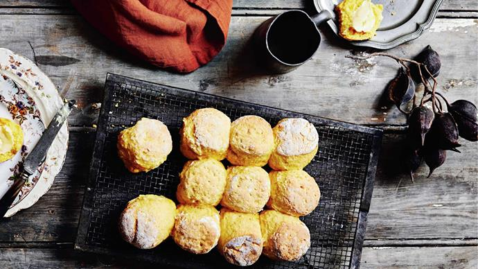 [**Pumpkin scones**](http://www.homelife.com.au/recipes/desserts/tamsin-carvans-pumpkin-scones). Add a small Tupperware container with butter and jam and your kid will think you're the greatest mum who ever lived. | Photo: Lisa Cohen
