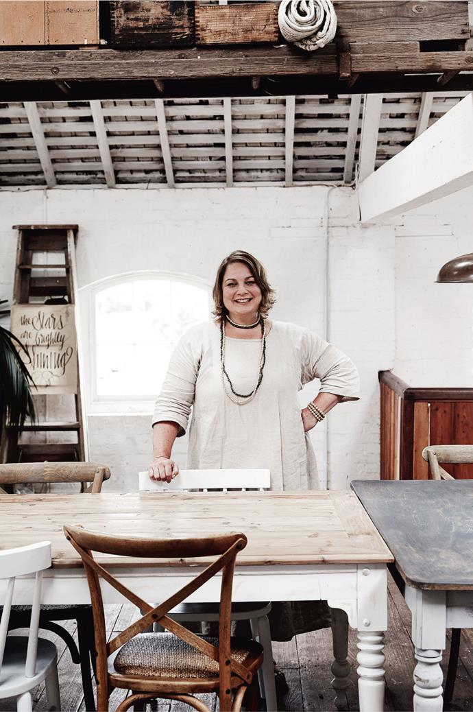 "After a long career in aged care, Julie now lives and breathes [contemporary farmhouse style](https://www.homestolove.com.au/decorating-101-farmhouse-rustic-style-4345https://www.homestolove.com.au/decorating-101-farmhouse-rustic-style-4345|target=""_blank""). Her online shop is a lure for those in search of simplicity. She's not always been a shopkeeper, but has a sense that it's always been in her, thanks to her grandfather who kept a store in England, selling tin toys and hardware. It's her mother, though, who likes to claim credit for Julie's innate sense of style that has shown itself in a well-stocked, ever-changing space. *Photo: Mark Roper*"