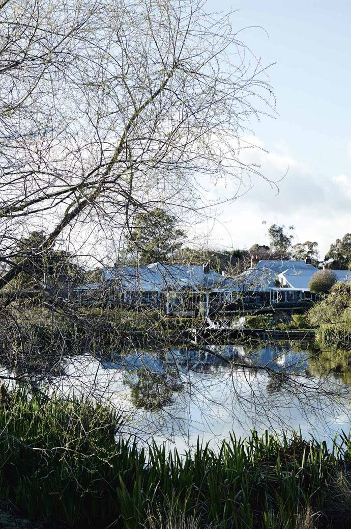 """Accompanying the main house, Chapel House came with the disused Queen Victoria Inn, Olsen's studio, a dressage arena and stables, orchards, a [formal rose garden](https://www.homestolove.com.au/rose-garden-at-sunnyhurst-winery-bridgetown-wa-12292 target=""""_blank"""") and a lake full of resident geese."""