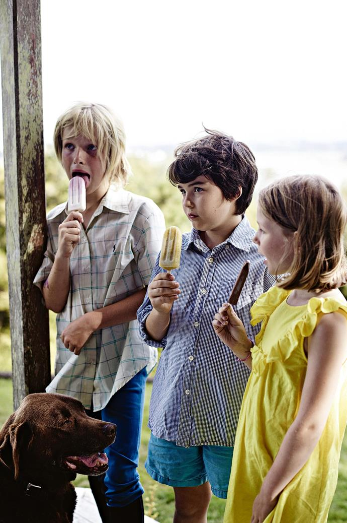 Ten-year-old son, Spike, is the premiere taste tester for Dr Feelgood's Frozen Pops.