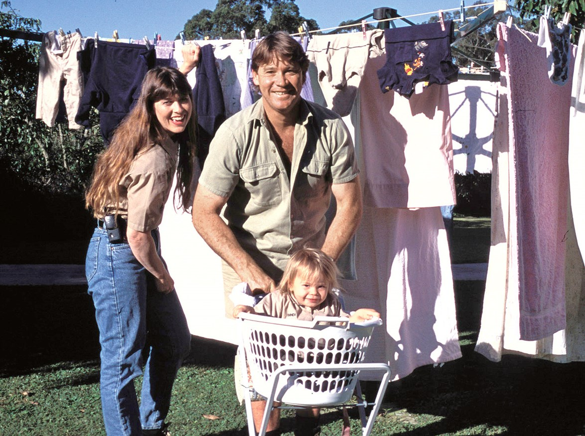 Terri, Steve and Bindi Irwin at home in Beerwah, 75 kilometres north of Brisbane.