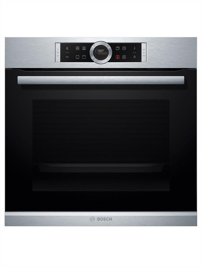 Series 8 60cm EcoClean Direct Oven, $1649, Bosch Home Appliances, 1300 369 744, bosch-home.com.au