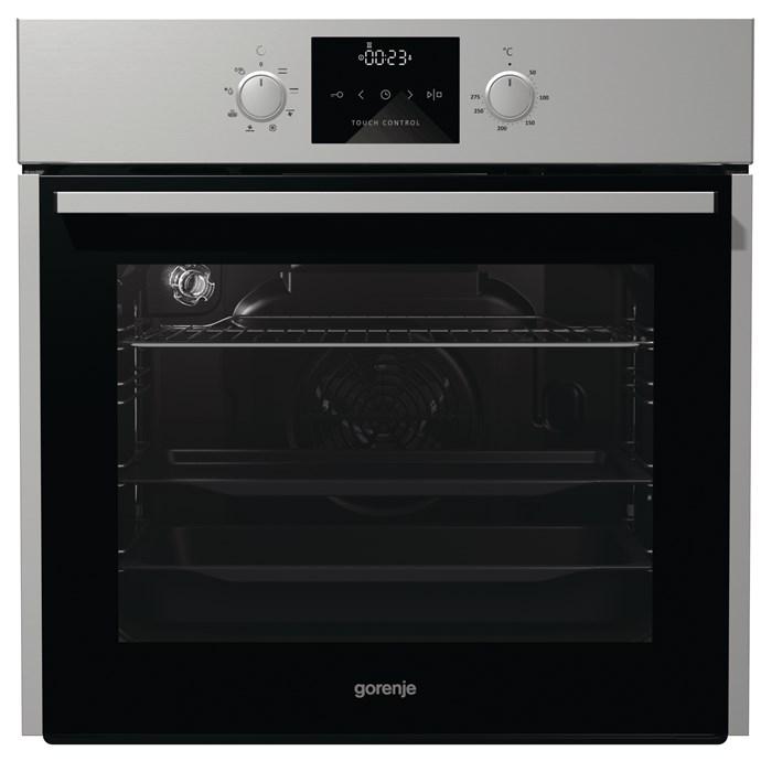 Gorenje 60cm Built In oven in Brushed stainless steel, $899, Winning Appliances, (02) 9694 0000, winningappliances.com.au
