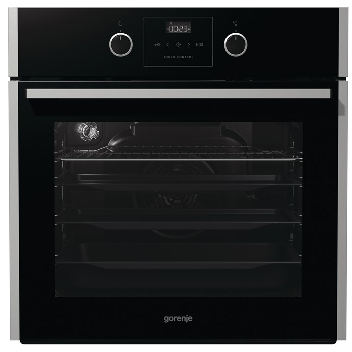 Gorenje 60cm Built In oven in stainless steel, $999, Winning Appliances, (02) 9694 0000, winningappliances.com.au