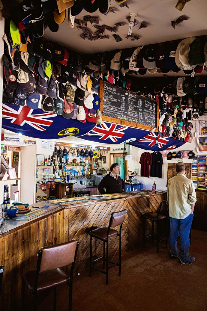 The Cameron bar is dressed in Australian memorabilia.