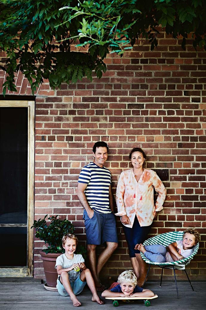 """After moving from Melbourne, Lou admits, """"I did wonder if we needed something quite so big. Then I thought, 'One day we will have three teenage boys...'"""" The couple [relax on the verandah](https://www.homestolove.com.au/country-verandahs-13365