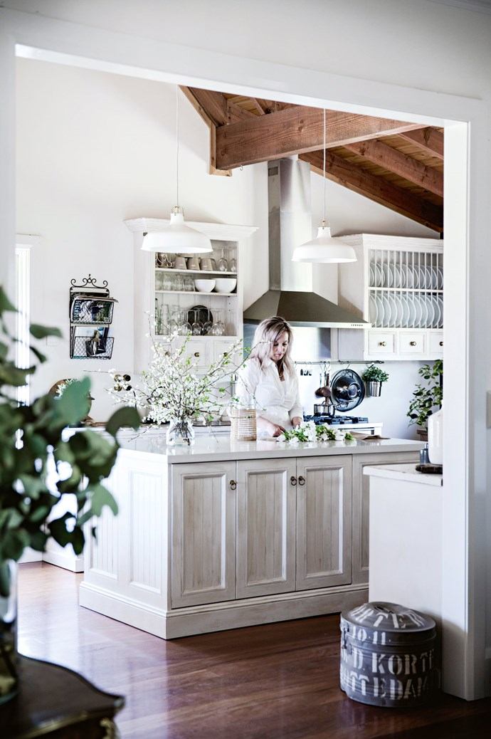 """""""I love the kitchen,"""" Heidi says. """"It's a unique space with loads of natural light, which makes it a joy to be in.""""    Photo: Chris Warnes"""