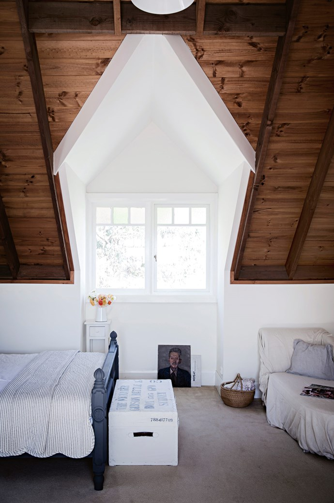 The guest bedroom opens up to views of the Blue Mountains.   Photo: Chris Warnes