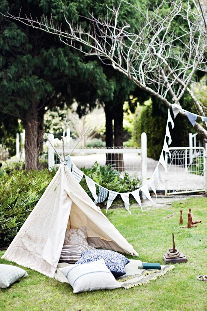 5. Get a vintage outdoor game, like a wooden bocce or quoit set, for some old-fashioned family fun. Playful activities will get your guests up and moving, and are a great way to ensure your garden party is a memorable one. | Photo: Lisa Cohen