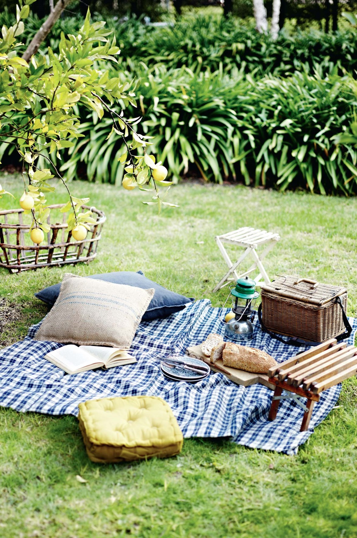 """[Set up a picnic](https://www.homestolove.com.au/stylish-accessories-for-the-ultimate-picnic-6021  