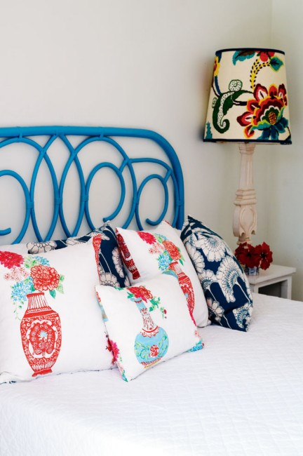 The colourful main bedroom.   Photo: Jared Fowler