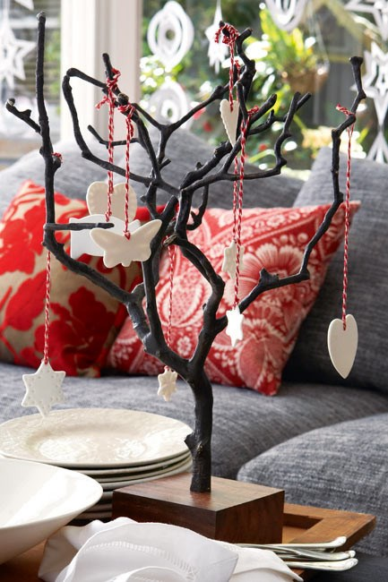 This festive centre piece is a modern spin on the old Christmas tree.  | Photo: Sam McAdam-Cooper
