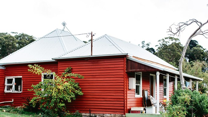 Many people have stopped and praised the home's red exterior.