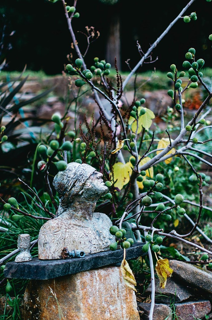A sculpture in the garden.